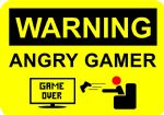 Aged Metal Sign Wall Door Plaque Game Over Angry Gamer 15X20cm